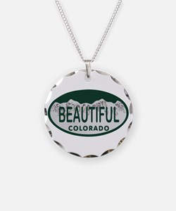 Beautiful Colo License Plate Necklace