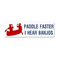 Cute Paddle faster i hear banjo Car Magnet 10 x 3