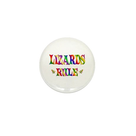 LIZARDS RULE Mini Button (100 pack)