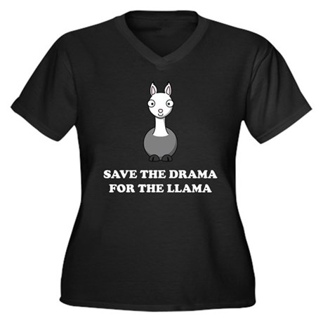 save the drama for the llama Women's Plus Size V-N