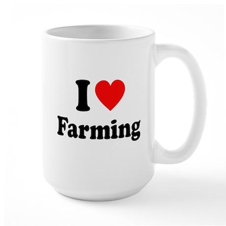 I Love Farming Large Mug