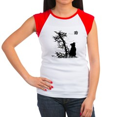Year of the Dog Bamboo Women's Cap Sleeve T-Shirt
