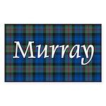Tartan - Murray Sticker (Rectangle 50 pk)
