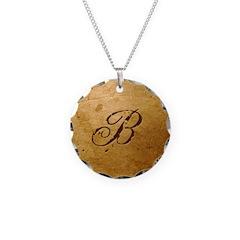 Faux Gold B monogram Necklace