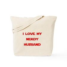I love my nerdy husband Tote Bag