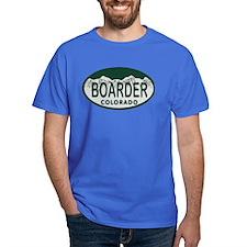 Boarder Colo License Plate T-Shirt