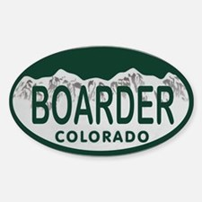 Boarder Colo License Plate Decal