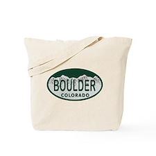 Boulder Colo License Plate Tote Bag