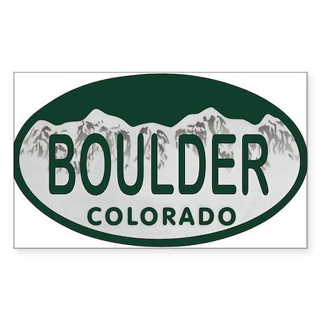 Boulder Colo License Plate Sticker (Rectangle)