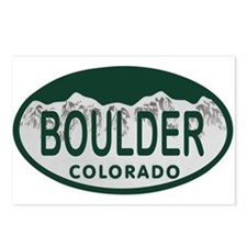 Boulder Colo License Plate Postcards (Package of 8
