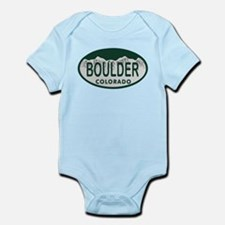 Boulder Colo License Plate Infant Bodysuit