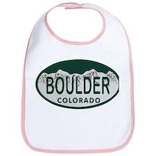 Boulder Colo License Plate Bib
