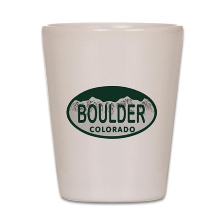Boulder Colo License Plate Shot Glass