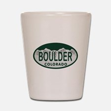 Boulder Colo License Plate Shot Glass