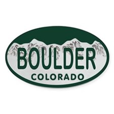 Boulder Colo License Plate Decal