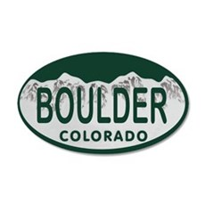 Boulder Colo License Plate Wall Decal