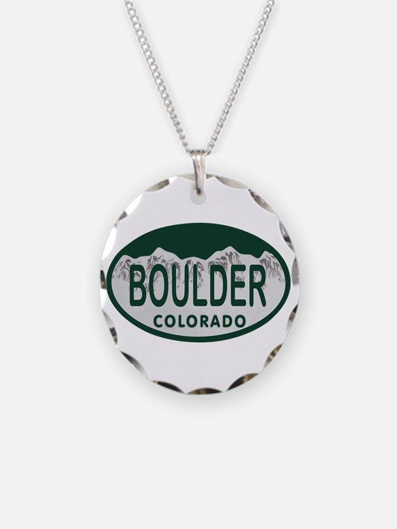 Boulder Colo License Plate Necklace