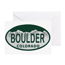 Boulder Colo License Plate Greeting Card