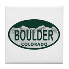 Boulder Colo License Plate Tile Coaster