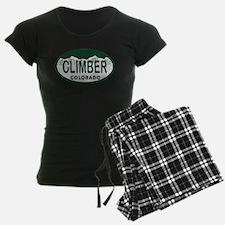 Climber Colo License Plate Pajamas