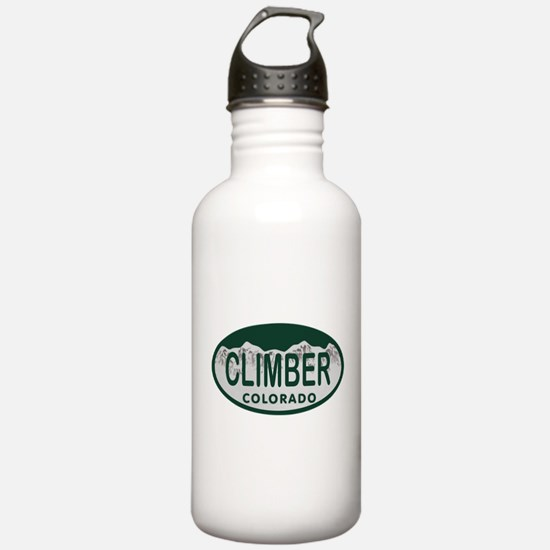 Climber Colo License Plate Water Bottle