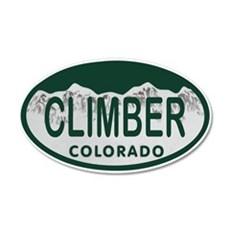 Climber Colo License Plate Wall Decal