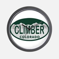 Climber Colo License Plate Wall Clock