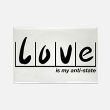 Love Is My Anti-State Rectangle Magnet