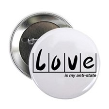 """Love Is My Anti-State 2.25"""" Button"""