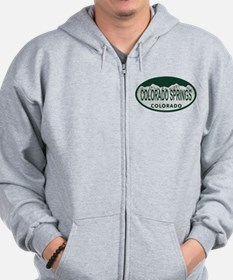 Colorado Springs Colo License Plate Zip Hoodie