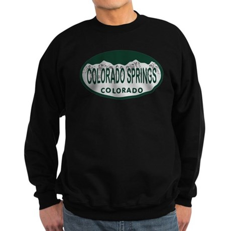 Colorado Springs Colo License Plate Sweatshirt (da