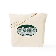 Colorado Springs Colo License Plate Tote Bag