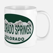 Colorado Springs Colo License Plate Mug