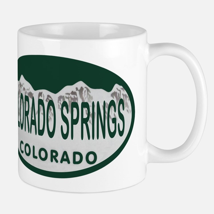 Colorado Springs Colo License Plate Mug