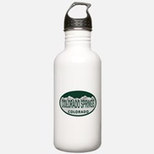 Colorado Springs Colo License Plate Water Bottle