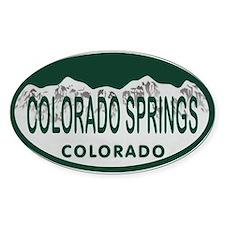 Colorado Springs Colo License Plate Bumper Stickers