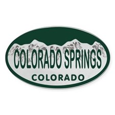 Colorado Springs Colo License Plate Decal