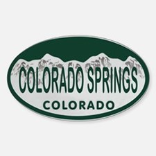 Colorado Springs Colo License Plate Sticker (Oval)