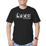 Love Is My Anti-State Men's Fitted T-Shirt (dark)