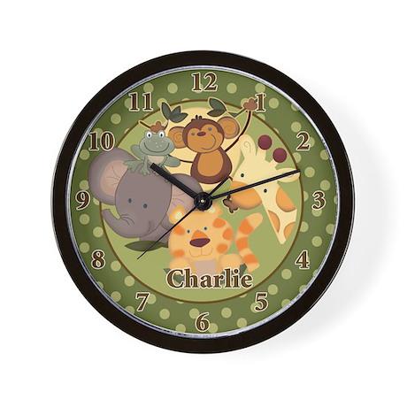 Jungle Safari Wall Clock - Charlie
