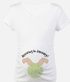 January Due Date Belly Print Shirt