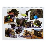 Chocolate lab Wall Calendars