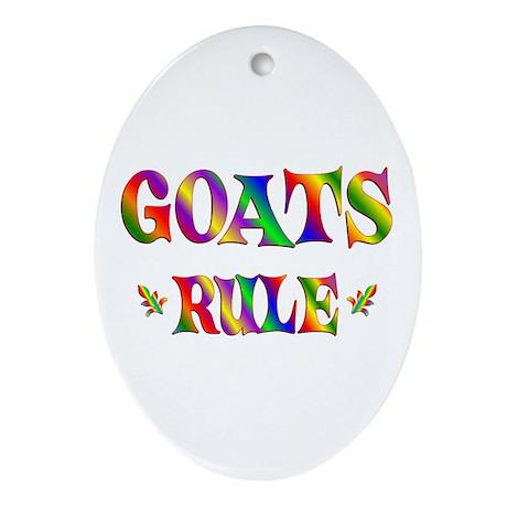 GOATS RULE Ornament (Oval)