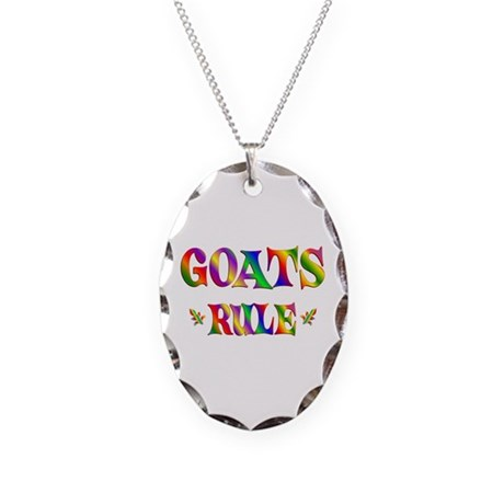GOATS RULE Necklace Oval Charm