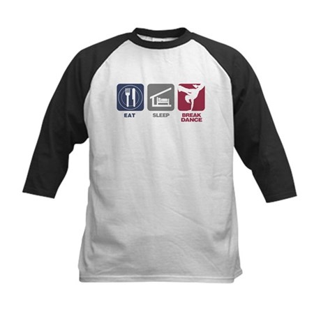 Eat Sleep Breakdance - Girl Kids Baseball Jersey