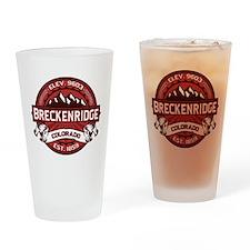 Breckenridge Red Drinking Glass