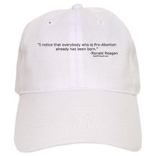 Reagan: Everybody who is Pro-Abortion Baseball Baseball Cap