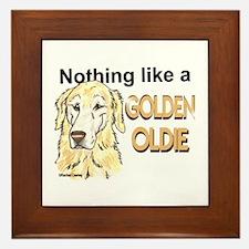 Golden Oldie Framed Tile