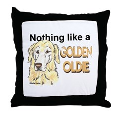 Golden Oldie Throw Pillow