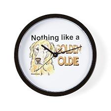 Golden Oldie Wall Clock